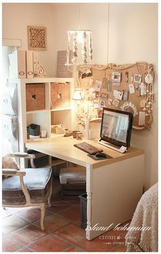 Island Bohemian Summer Decor | Home Office