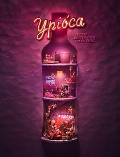 Ypioca on Behance house drink humor Creative Advertising, Print Advertising, Print Ads, Poster Prints, Posters, Ad Design, Graphic Design, Advertising Techniques, Behance