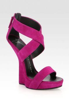 Suede Curved Sandal