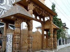 Visit Romania's most haunted places! See where Vlad the Impaler, Dracula, is now spending his life haunting! Visit the Merry Cemetery and see a village that is now a toxic wasteland. Timber Architecture, Architecture Details, Transylvania Romania, Visit Romania, Most Haunted Places, Wooden Gates, Iron Gates, Wooden House, Beautiful Buildings