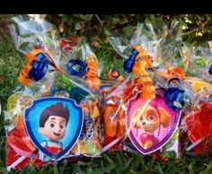 paw patrol candy bags - Buscar con Google Party Favor Bags, Birthday Party Favors, 2nd Birthday Parties, Goodie Bags, Paw Patrol Birthday Girl, Girl Birthday, Paw Patrol Party Decorations, Cumple Paw Patrol, Paw Patrol Cake