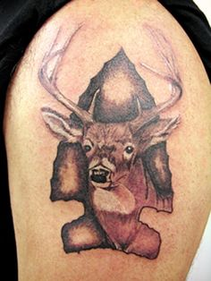 One unique tattoo that you may find interest in is the deer tattoo. Deer tattoos are not a main stream tattoo design, but they are a popularity for the tattoo design. Deer tattoos are commonly worn on men, but women do get such a tattoo. Arrow Head Tattoos, Bow Hunting Tattoos, Deer Skull Tattoos, Deer Skulls, Animal Tattoos, Lace Bow Tattoos, Cute Tattoos, Body Art Tattoos, Tatoos