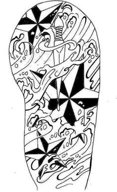 Half Sleeve Tattoo Drawings | Arm Tattoo Designs New Tribal Half Sleeve 7 500x821px Football Picture