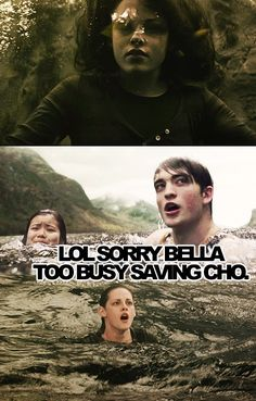 Harry Potter vs. Twilight. Cho vs. Bella :P #chochangftw
