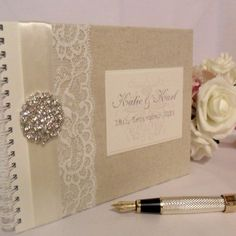 Lime And Ivory Wedding Guest Book With Photo Cover Fun Simple