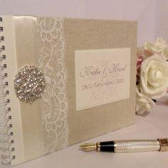 Vintage Lace Wedding Guest Book/Album