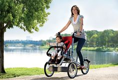 The hot new Taga Bike Stroller converts from a child-toting bike to jogging stroller in seconds. Here's our full review--and why you might want one. A lot.