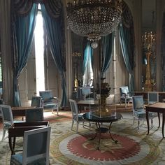 We all loved this blue room in Marie Antoinette's chateau at Versailles.