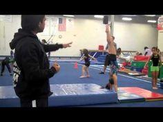 Here is a women's gymnastics front handspring side station drill Gymnastics Funny, Gymnastics Lessons, Gymnastics Academy, All About Gymnastics, Preschool Gymnastics, Gymnastics Floor, Tumbling Gymnastics, Gymnastics Coaching, Gymnastics Training