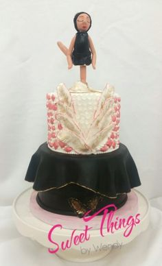 Ballerina cake topper - sweetthingsbywendy.ca Ballerina Cakes, Cake Toppers, Cupcake Cakes, Sweet, Dresses, Fashion, Candy, Vestidos, Moda