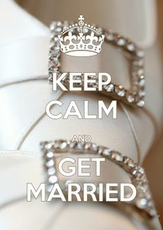 Keep Calm Get Married - Felicitatiekaarten - Kaartje2go