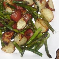 oven roasted potatoes and asparagus-simple and so delicious!