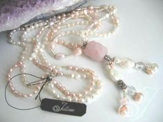 Spring Rose Pink Pearl Necklace