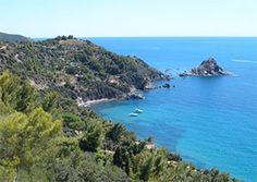 Mount Argentario and Orbetello, Tuscany coast line, Italy  c'e l'ho anchio questo foto.  che ricordo!!!!