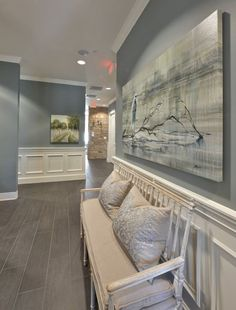 Paint Color Forecast Wall color is Sea Pines from Benjamin Moore. 2016 paint color forecasts and trends. Image via Heather Scott.Wall color is Sea Pines from Benjamin Moore. 2016 paint color forecasts and trends. Image via Heather Scott. Neutral Paint Colors, Interior Paint Colors, Interior Design, Beige Paint, Entryway Paint Colors, Dinning Room Paint Colors, Office Wall Colors, Interior Painting, Paint Colors Laundry Room