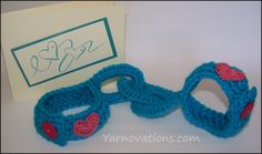 Bridal Shower Gift - Crochet Handcuffs Bridal showers are a great time to gift practical items for kitchen and bath to a soon to be wed young couple. It's also a fun time to embarrass them with it. Crochet Gifts, Easy Crochet, Free Crochet, Knit Crochet, Bridal Shower Gifts, Bridal Showers, Crochet Pumpkin, Valentine Heart, Gag Gifts