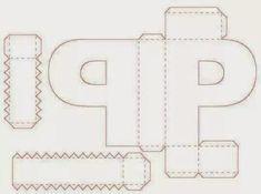 ALFABETO EM MOLDES DE CAIXAS PARA IMPRIMIR E MONTAR - FESTAS - ANIVERSÁRIO - MOLDES DE LETRAS CAIXAS PARA MONTAR - ALFABETOS LINDOS Cardboard Paper, 3d Paper, Paper Crafts, 3d Alphabet, Alphabet Templates, 3d Letters, Letters And Numbers, Cube Template, Origami Paper Art
