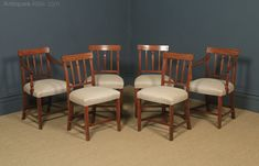 English Set Of Six Georgian Mahogany Dining Chairs - Antiques Atlas