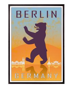 Berlin vintage style poster by Paulrommer on Etsy