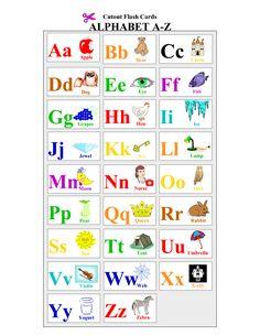 Printable Alphabet | Printable Alphabet Cards Educational Flash Cards