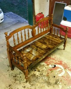 Old twin bed.