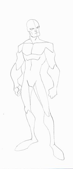 Here is another style body sketch male.. this is the case study sketches I have done as to try to figure out how the art style works and how the various body parts are molded..