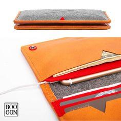 Fashionable Notecase Wool Felt Wallet iPhone 6 Plus by Booooooon