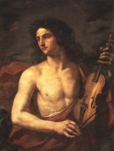 Orpheus with a violin, by Cesare Gennari John Waterhouse, Maurice Denis, Renaissance Portraits, Baroque Art, Hades And Persephone, Music Pictures, Old Master, Master Art, Italian Art