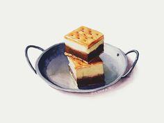 查看《甜品水彩插画-双色布朗尼》原图,原图尺寸:600x450