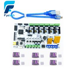 check discount 3d printer start kits mother board rumba board with 6pcs drv8825 stepper driver and 6pcs #3d #scanner