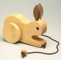 Love this pull bunny. To decorate room until baby is big enough