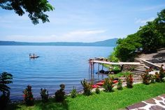 The Monkey Hut at Laguna de Apoyo #Nicaragua - bliss on the banks of an old volcano, the first place I ever kayaked