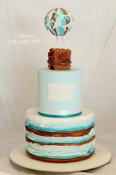 Hot Air Balloon Cake Art