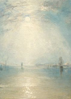 Joseph Mallord William Turner - Keelmen Heaving in Coals by Moonlight (Detail), 1835 Paintings I Love, Beautiful Paintings, Landscape Art, Landscape Paintings, Turner Painting, Joseph Mallord William Turner, Art Graphique, Oeuvre D'art, Art Photography