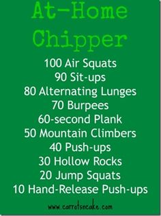 at-home chipper workout via @CarrotsNCake