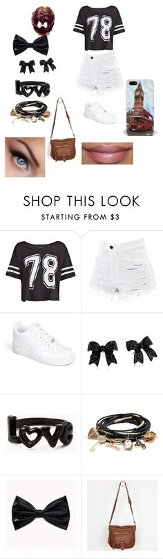 """Football/ Soccer game with 5 SOS and 1D"" by kaymarie1d ❤ liked on Polyvore featuring MANGO, NIKE, Betsey Johnson, Forever 21, GUESS and Audiology"