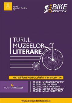 Turul muzeelor literare ieșene cu bicicleta, de Noaptea Muzeelor