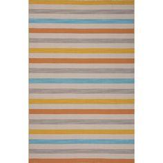 Pura Vida Wool Flat Weave Yellows/Gold/Blue Area Rug