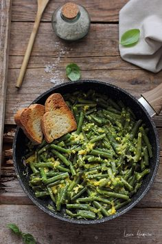 Vegetable Side Dishes, Seaweed Salad, Healthy Recipes, Healthy Food, Food Art, Green Beans, Food And Drink, Vegetables, Ethnic Recipes