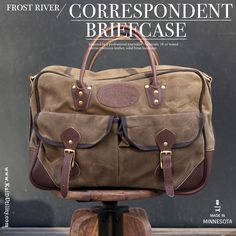 CORRESPONDENT BAG BY FROST RIVER. #FrostRiver