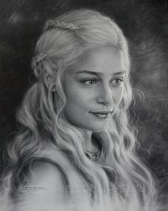 Portrait drawing of Emilia Clarke
