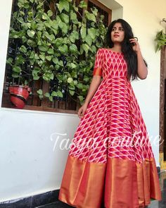 Indian Gowns Dresses, Indian Fashion Dresses, Dress Indian Style, Indian Designer Outfits, Designer Dresses, Long Gown Dress, Lehnga Dress, Frock Dress, Kalamkari Dresses