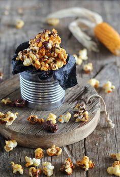 Mi Gran Diversión: Palomitas con caramelo y chocolate
