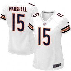8327ea08d Women s Nike Chicago Bears  15 Brandon Marshall Elite White Jersey  109.99