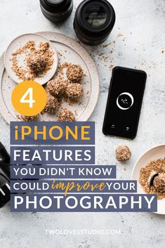 These simple iPhone features can be used in any shoot to help improve your photography. From the flashlight, to spirit level, compass and focus targets. Best Food Photography, Iphone Photography, Photography Tutorials, Photography Training, Photography Challenge, Photography Gear, Mobile Photography, Landscape Photography, Lightroom