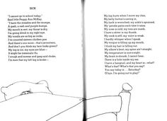 """Sick"" by Shel Silverstein I always said this was written for Natalie lol @Tessa McDaniel Hickerson Beaird"