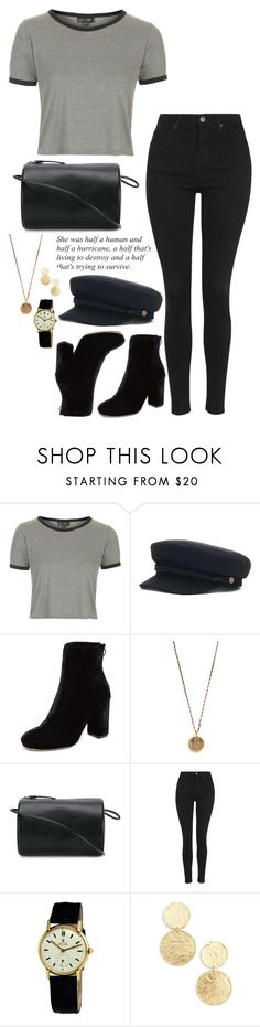 """Hurricane"" by elo379 ❤ liked on Polyvore featuring Topshop, Joie, Native Gem, Building Block, Rolex and Karine Sultan"