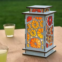 A collection of 20 DIY kits that are perfect for summer! All kits include everything needed to complete! Apostrophe S kit make great gifts too! Laser Cutter Ideas, Laser Cutter Projects, Tin Can Lanterns, Candle Lanterns, Table Lamp Wood, Wood Lamps, Laser Cut Wood, Laser Cutting, Ramadan Lantern