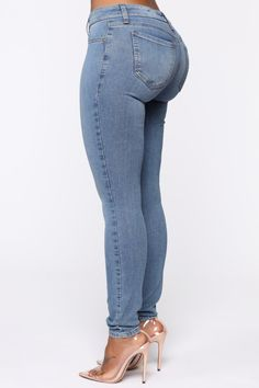 Torn Jeans, Curvy Jeans, Sexy Jeans, Blue Trousers, Trousers Women, Blue Jean Outfits, Red Leggings, Low Rise Skinny Jeans, Perfect Jeans