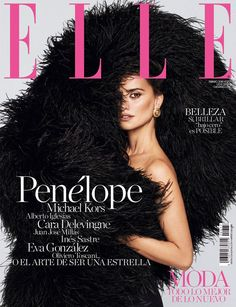 Actress Penelope Cruz turns up the glam factor for the February 2018 cover of ELLE Spain. In front of the lens of Xavi Gordo Artist Management)… V Magazine, Fashion Magazine Cover, Fashion Cover, Magazine Covers, Penelope Cruz, Forever Living Products, Anna Wintour, Cara Delevingne, Marie Claire